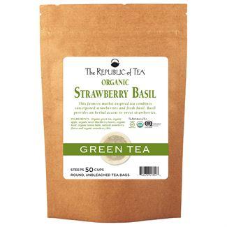Organic Strawberry Basil Green Tea Bags