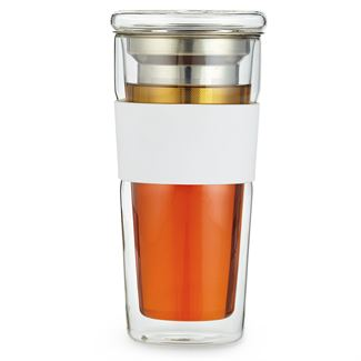 Glass Tumbler with Removable Infuser