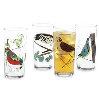 Charley Harper Iced Tea Glasses (Set of 4)