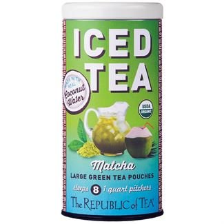 Organic Matcha Coconut Water<br>Iced Tea Pouches