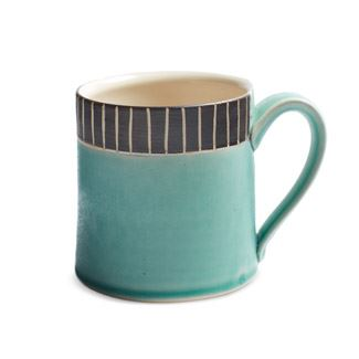 Teal Stripe Mug