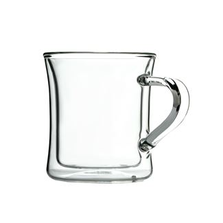 Double Wall Glass Classic Diner Mug
