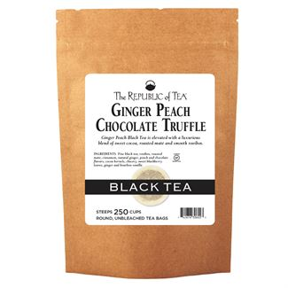 Ginger Peach Chocolate Truffle Black Tea Bags