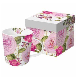 Pink Blooms Boxed Mug