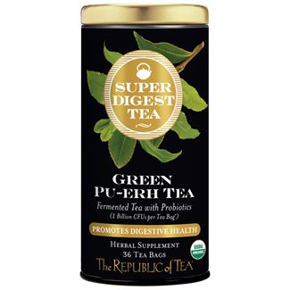 SuperDigest Organic Green Puerh Tea Bags