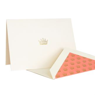 Downton Abbey® Engraved Crown Note Cards