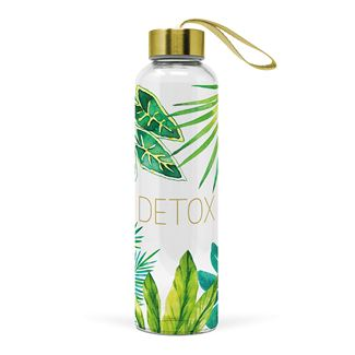 Detox Glass Cold Water Bottle