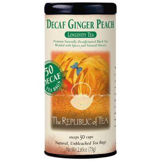 Decaf Ginger Peach Black Tea Bags