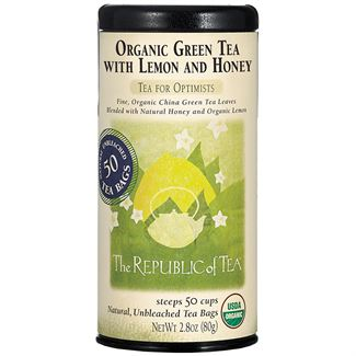 Organic Green Tea with Lemon and Honey Tea Bags