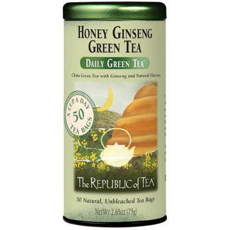 Honey Ginseng Green Tea Bags V00647