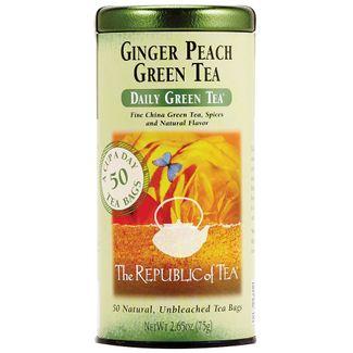 Ginger Peach Green Tea Bags