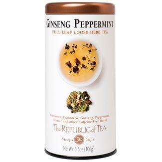 Ginseng Peppermint Herbal Full-Leaf Tea