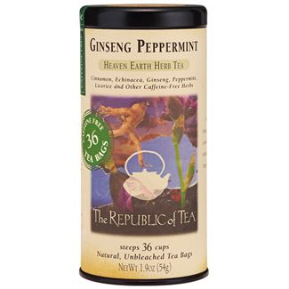 Ginseng Peppermint Herbal Tea Bags