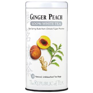 Ginger Peach 100% White Tea Bags
