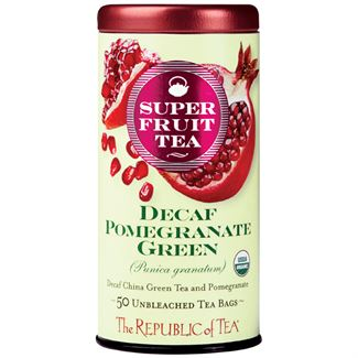 Organic Decaf Pomegranate Green Superfruit Tea Bags