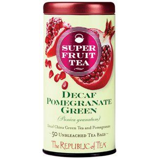 Organic Decaf Pomegranate Green Superfruit Tea Bags