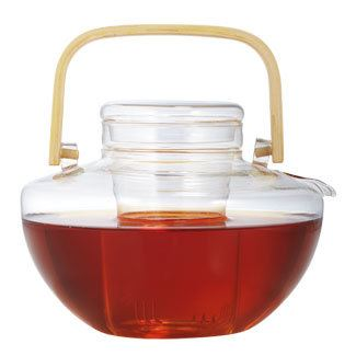 Clarity Glass Teapot with Wood Handle