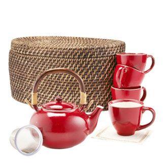 Red Blaze Tea Set