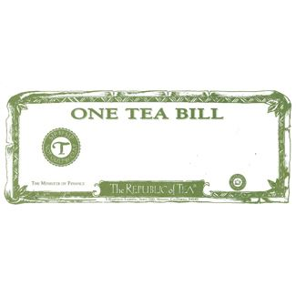 Paper Tea Bill Gift Certificate