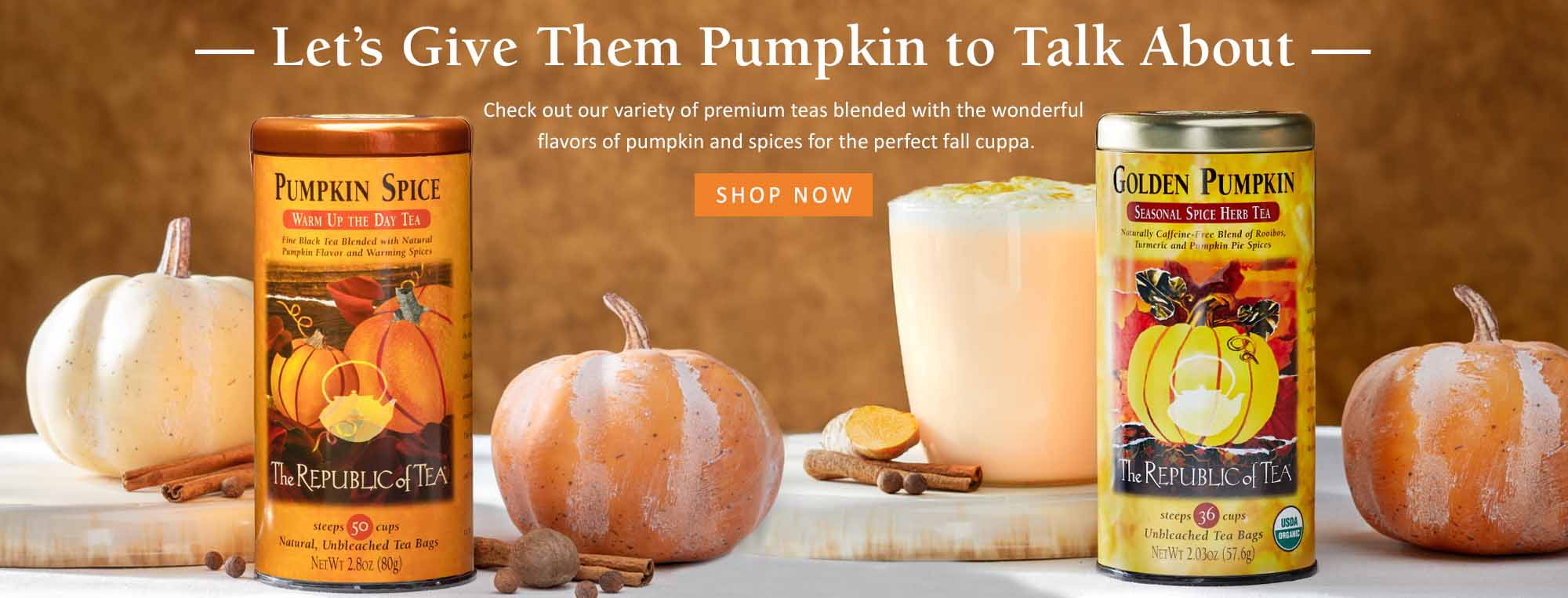 Pumpkin and Turmeric Teas